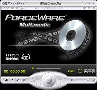 Screenshot of Forceware Multimedia Application