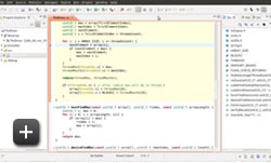 Schermata dell'editor di Nsight Eclipse Edition
