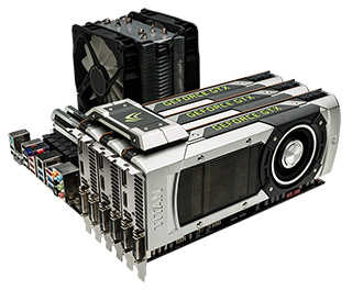 Esclusivo bridge SLI NVIDIA GeForce GTX