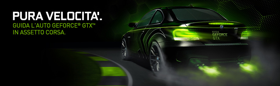Guida l'auto GeForce GTX in Assetto Corsa.