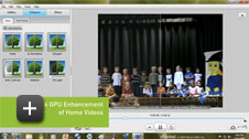 One-Click GPU Enhancement of Home Videos